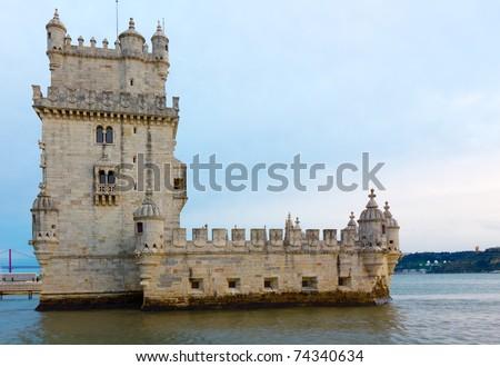 Tower of Belem (Torre de Belem), Lisbon, Portugal - stock photo
