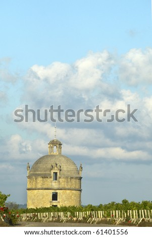 Tower of Chateau Latour - stock photo