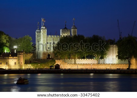 Tower of London at night - stock photo