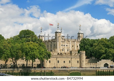 Tower of London in Summer, London, UK