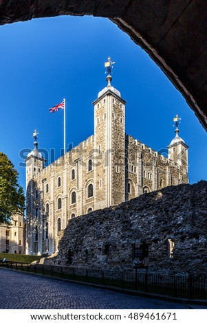 Tower of London in sunny day