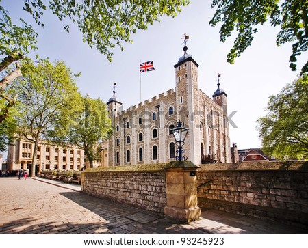 Tower of London - Part of the Historic Royal Palaces, housing the Crown Jewels. - stock photo