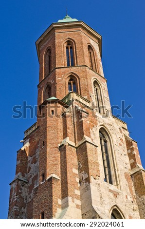 Tower of Mary Magdalene church in Budapest, Hungary