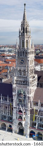 Tower of new Town Hall (Neues Rathhaus), Munich (Munchen), Germany