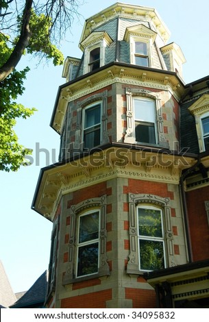 Tower of old home-Taken World wide photo walk July 2009-Buffalo,New York - stock photo