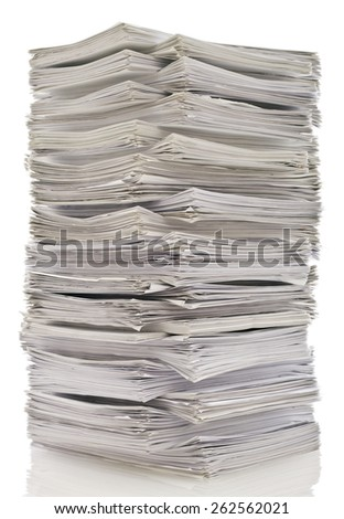 Tower of papers - stock photo