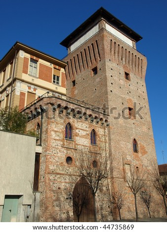 Tower of Settimo Torinese ( Torre Medievale ) medieval castle near Turin
