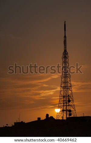 Tower of telecommunications, Palmira, Siria