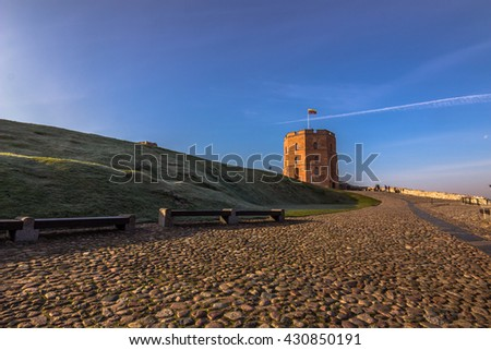 Tower of the castle of Vilnius, Lithuania