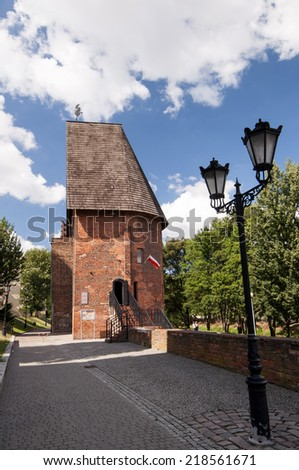 Tower of witches. Old jail in Slupsk - stock photo