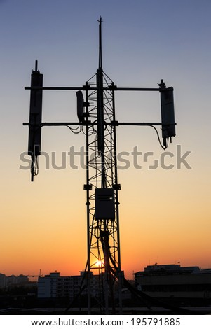tower transmition base station - stock photo
