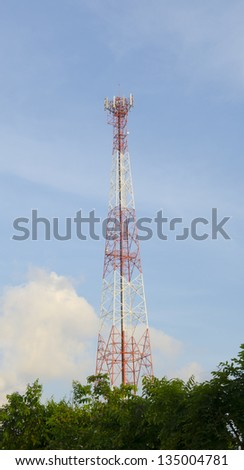 Tower used to locate antennas for communications purposes
