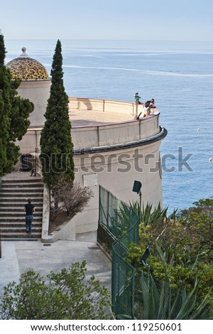 Towering Over the Mediterranean - stock photo