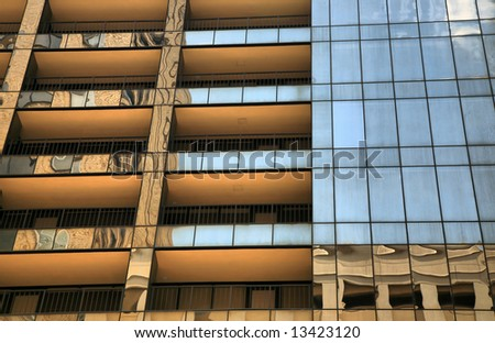 Towering Skyscraper in Houston, Texas, United States of America(Release Information: Editorial Use Only. Use of this image in advertising or for promotional purposes is prohibited.) - stock photo