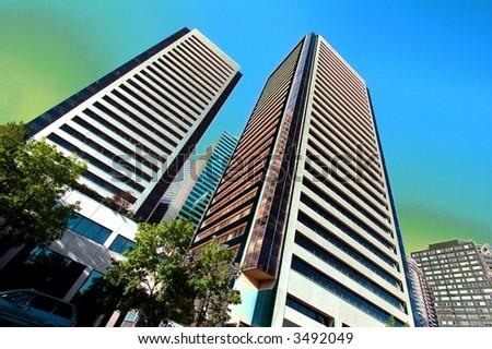 towers - stock photo