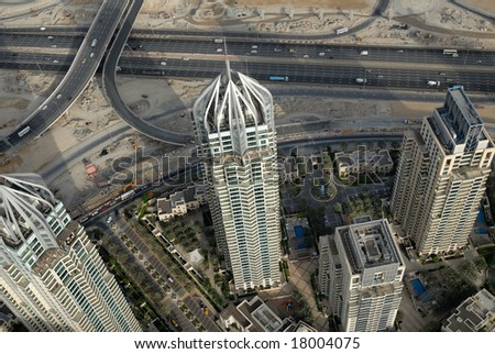 Towers In Dubai - stock photo