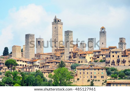 Towers in San Gimignano,Italy