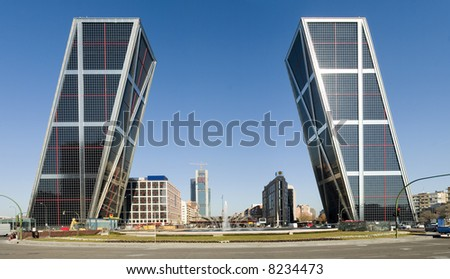 towers, Madrid Spain - stock photo