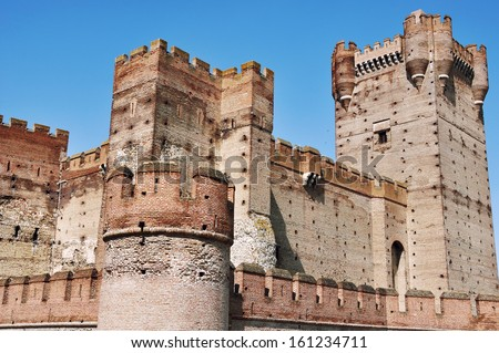 Towers of Ancient Castle of La Mota, Valladolid, Spain