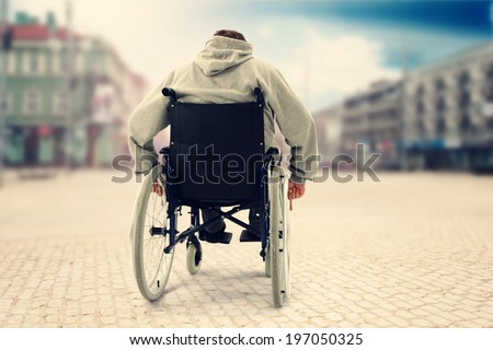 town and medicine  - stock photo