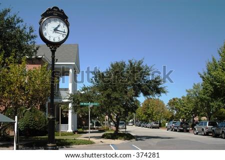 Town Clock - stock photo