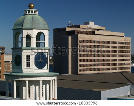 Town Clock on Citadel Hill in Halifax NS. - stock photo