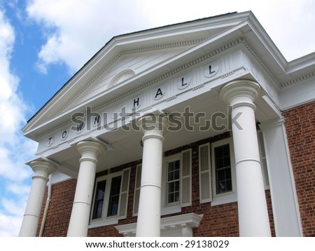 Town hall building - stock photo