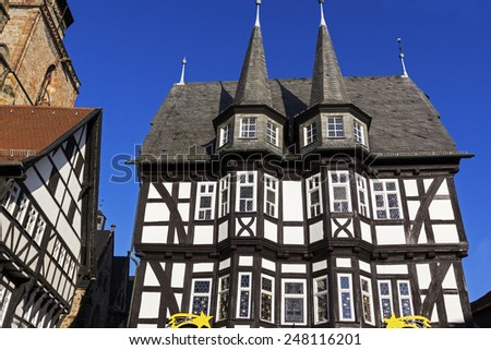 Town Hall in historic Old Town in Alsfeld in Germany - stock photo