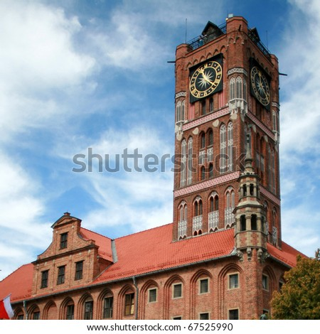 Town Hall in Torun, Poland - stock photo