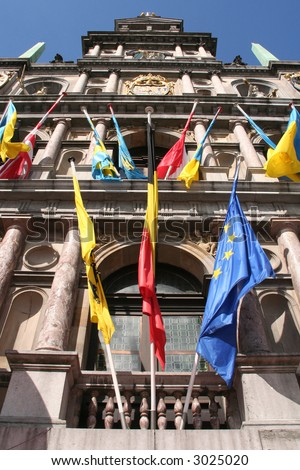 Town hall of Antwerp (Belgium) - stock photo