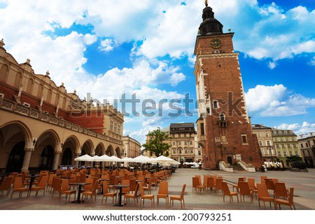 Town Hall Tower (Wieza ratuszowa w Krakowie) - stock photo