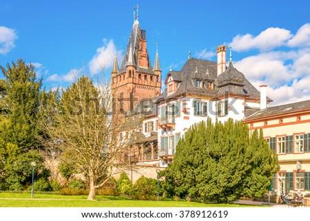 Town hall, Weinheim  - stock photo