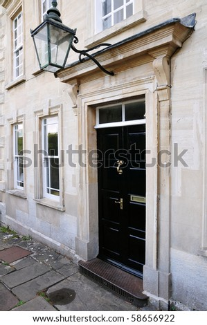 Town House Doorway - stock photo