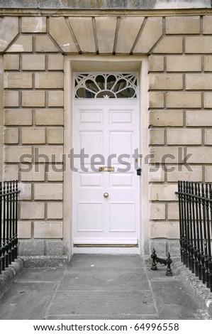 Town House Front Door - stock photo