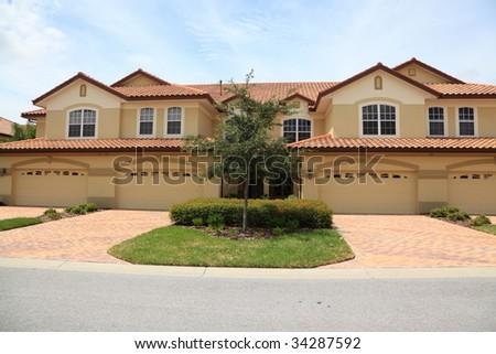 Town Houses - stock photo
