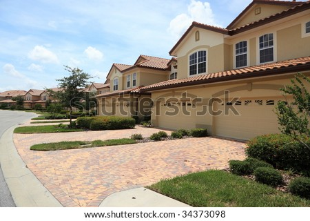 Town Houses - stock photo