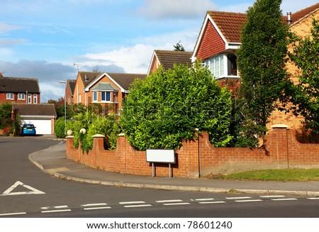 Town Houses On An English Street - stock photo