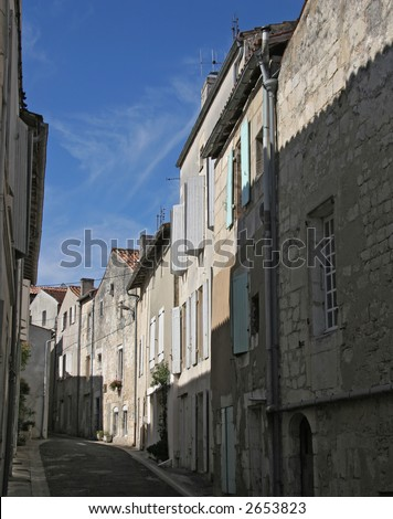 Town in France - stock photo