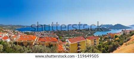 Town Kash, Turkey - travel background - stock photo
