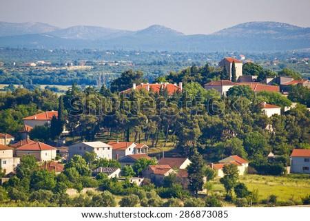 Town of Benkovac old architecture view, Dalmatia, Croatia - stock photo