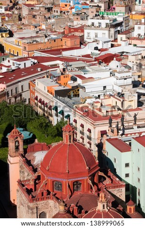 Town of Guanajuato (Mexico) - stock photo