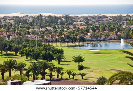 Town of Maspalomas in Canary Islands - stock photo