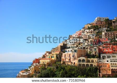 Town of Positano,Amalfi,Italy - stock photo