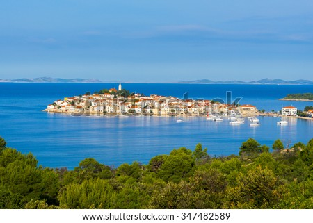 Town of Primosten, Dalmatia, Croatia - stock photo