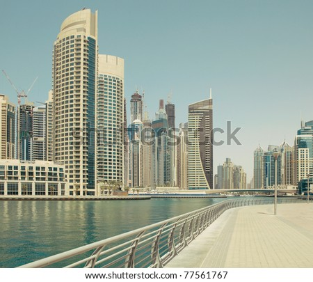 Town scape at summer. Panoramic scene, - stock photo
