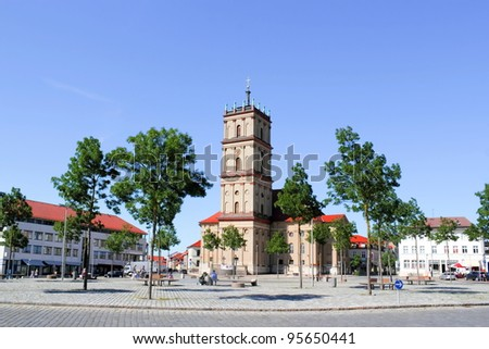 Town square with church
