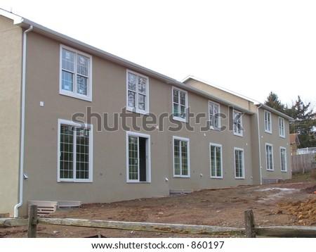 TOWNHOUSE CONSTRUCTION - stock photo