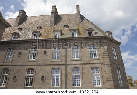 Townhouse in Saint-Malo - Saint-Malo, Brittany, France - stock photo