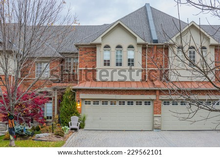 Townhouse or condominium in Canada - stock photo