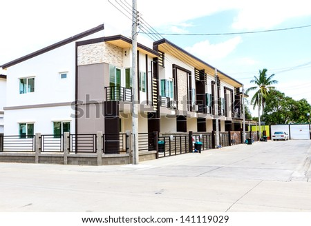 Townhouses in Thailand - stock photo